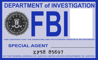 free fbi id blank psd vector graphic. Black Bedroom Furniture Sets. Home Design Ideas
