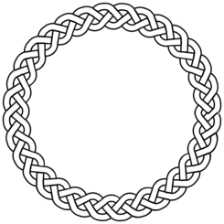 3-plait border circle