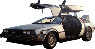 Back To The Future Car PSD