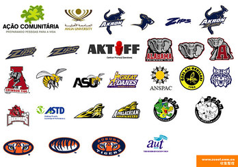 Education and training classes at home and abroad LOGO vecto