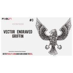 ENGRAVED GRIFFIN FREE VECTOR.eps
