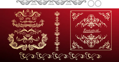 Golden Floral Ornament Vector Free