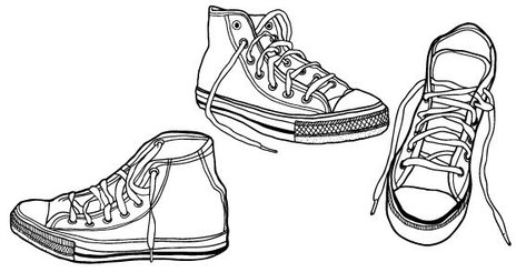 Free Illustrated Vector Sneaker Graphics