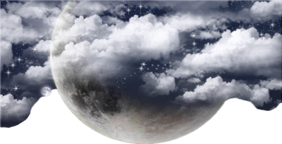 CLOUDS AND MOON PSD