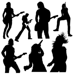 Vector Set: Band, Music, and Rockstar Silhouettes
