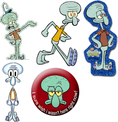 SQUIDWARD PACK PSD