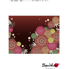 JAPANESE FLORAL PATTERN VECTOR.eps