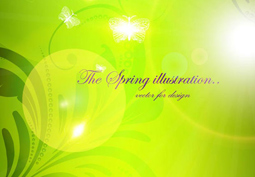 The spring background