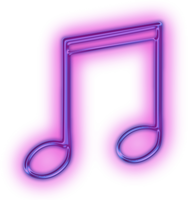 Glowing Music Note PSD