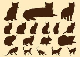 Cats Silhouettes Graphics