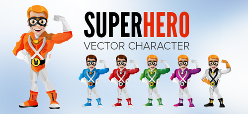 Smiling Superhero Vector Character