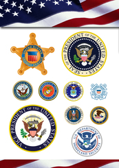 U.S. Administrative Law Enforcement And The Army Vector Logo