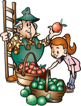 Farmer with fruits 1