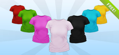 PSD Ladies Shirt Mockup Templates