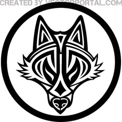 WOLF TRIBAL STYLE VECTOR.eps