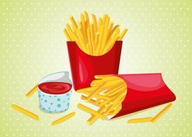 Fries with Sauce