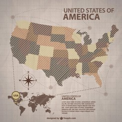 USA vector map free for download