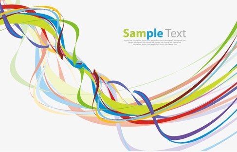 Colorful Wave Line Abstract Background