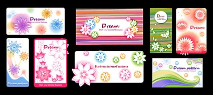 Vector dynamic fashion flowers background material