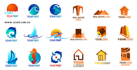 2 sets of logo template