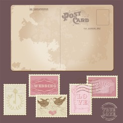 Classic Postcards And Stamps 02