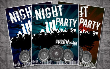 Flyer Template for Night Party