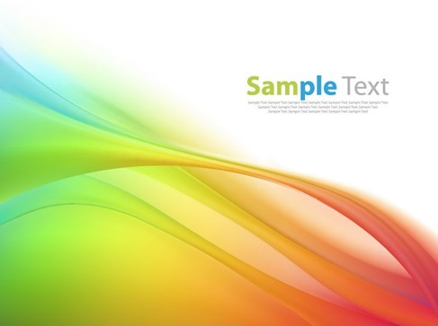 Abstract Colored Wave Background Vector Illustation Artwork