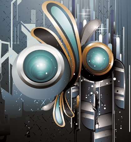 The Trend of Dynamic Science and Technology Theme Vector Graphic 2