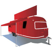 TRAILER HOME FREE VECTOR.eps