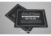 Save the Date Chalkboard Style Card