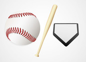 Baseball Ball and Bat Vector Graphics (Free)