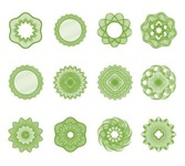 Guilloche Elements Vector Set