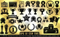 34 Vector award symbols icons