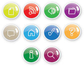 Exquisite Button Icons 06- Vector Material Web Ui Crystal Texture