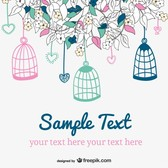 Vector doodle wedding invitation