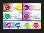 Fashion Discount Card Template Vector With Discount Coupons