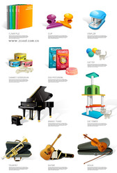 Living Icon Vector Graphic Supplies