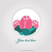 Roses vector card