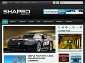 Shaped WordPress template