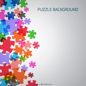 Puzzle free vector template