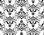 Stock Pattern Background floral black white