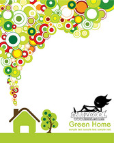 Vector Green House Material