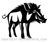 Wild Boar Vector Art