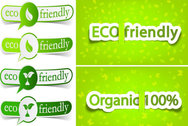 Low-Carbon Green Theme Label Banner Design