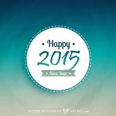 New Year 2015 Round Badge Template