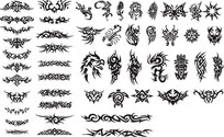 Series Of Black And White Design Elements Vector Graphic -15 (Totem)
