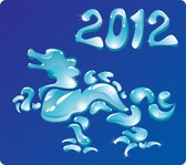 2012 Year Of The Dragon Creative Design 01