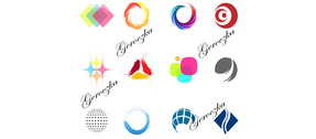 12 Creative Color Shapes Vector Logos Logotypes