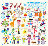 Cartoon illustrator of children 03