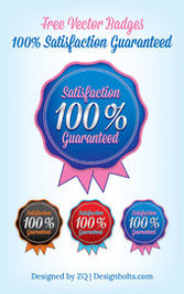 Rounded Satisfaction Guaranty Badge Template